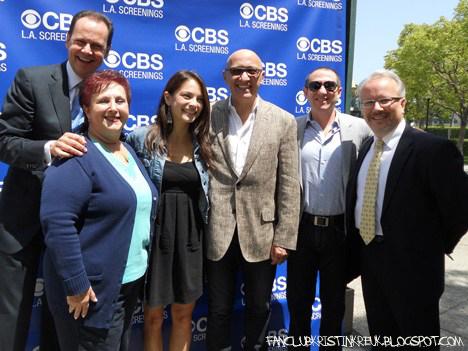 Кристин присутствовала на пилотном показе «Красавицы…» в CBS International Los Angeles